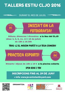 cartell tallers estiu