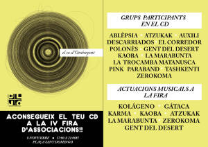 CD I ACTUACIONS EL SO D'ONTINYENTweb