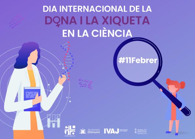 Banner dia Internacional de la Dona i la Xiqueta en la ciència